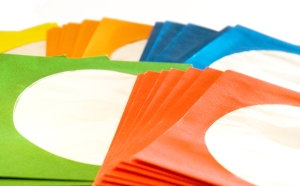 Envelopes with windows for CDs
