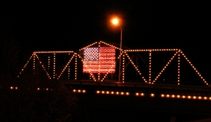 American Flag in Lights