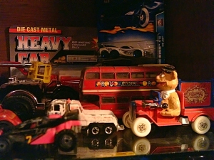 Collectors toys - cars and trucks.