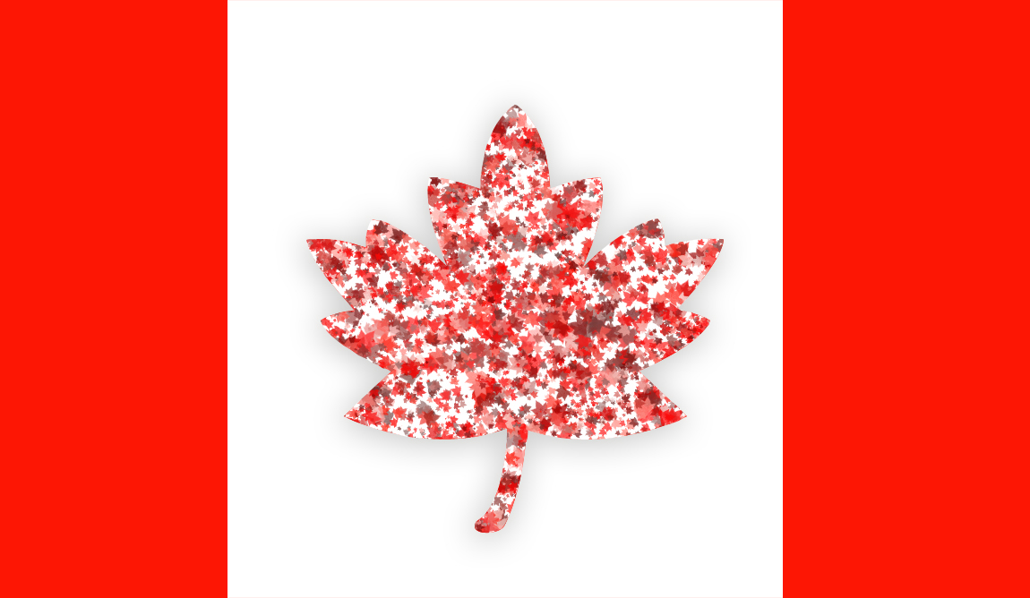 how to draw canadian flag maple leaf