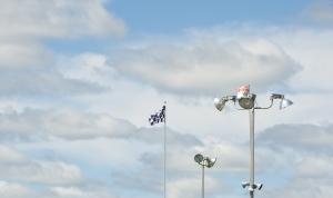 Lights and Flag