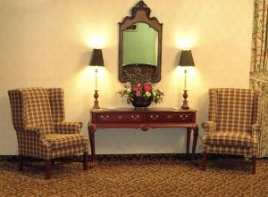 Warm Hotel Lobby