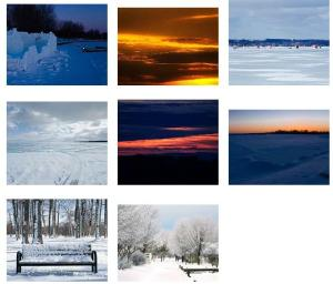 some winter landscapes and sunsets