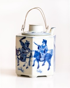 Blue and White Oriental Teapot